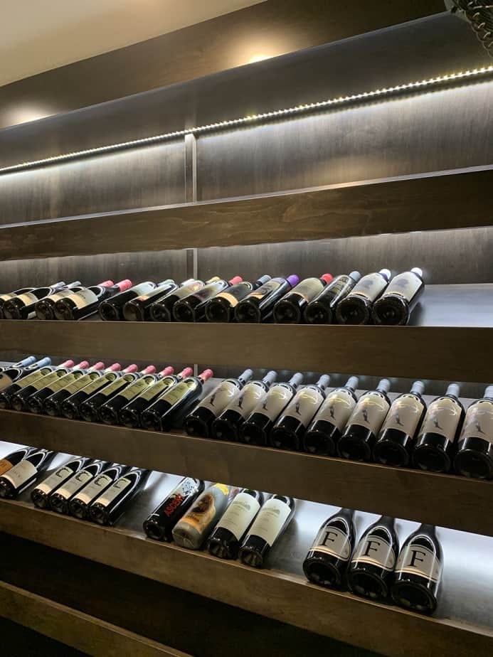 Wine Cellar room after
